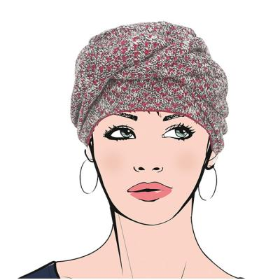 Turban chimio femme Mont Blanc Aderans France